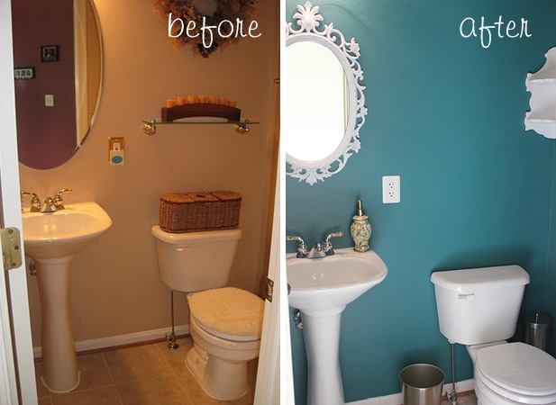 before/after: powder room- Grace Notes